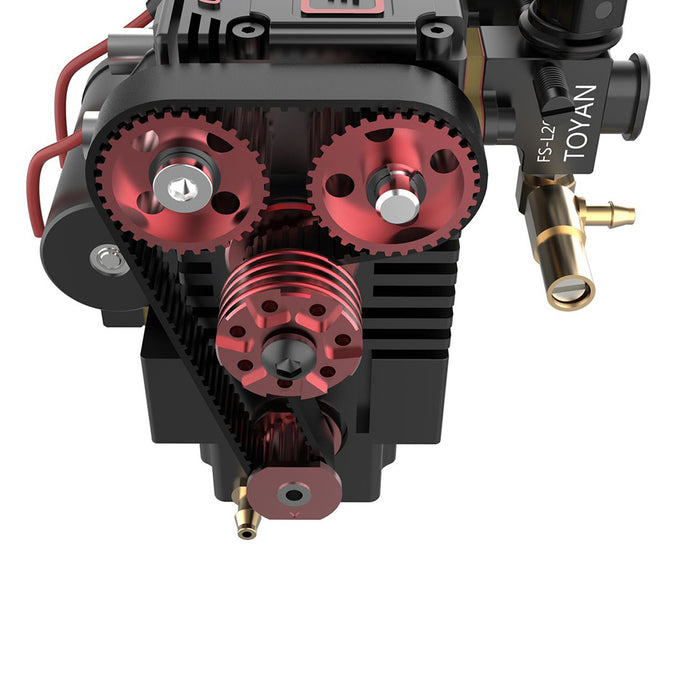 TOYAN FS-L200 Two Cylinder Four Stroke Nitro RC Engine Model For 1/10 1/12 1/14 RC Car Ship Model - stirlingkit