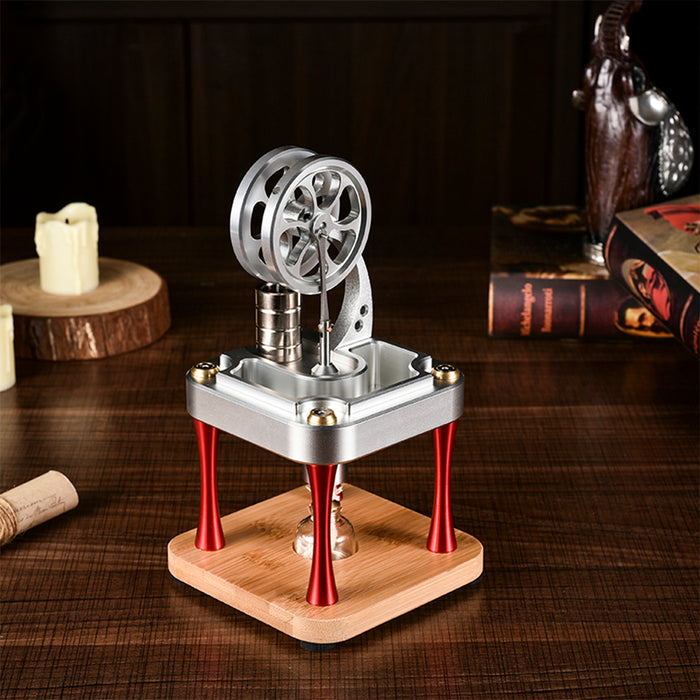 Water Cooled High Temperature Stirling Engine Model Metal Science Experiment Engine Toy - stirlingkit