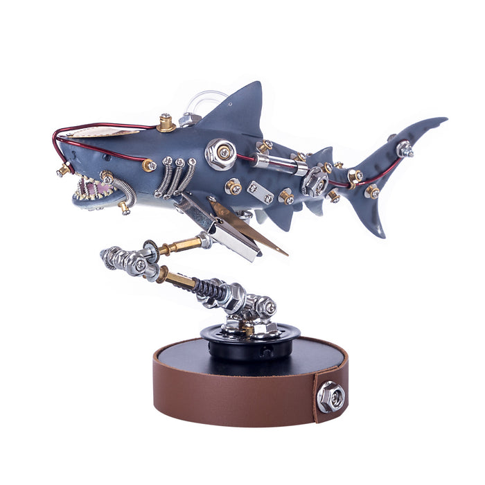 217Pcs DIY Metal Mechanical Variant Beast 3D Shark Assembly Puzzle Model Kit - stirlingkit