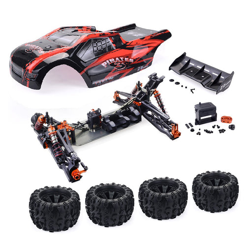ZD Racing 9021-V3 1/8 4WD 110km/h DIY Brushless RC Car Truggy Frame KIT Kit - stirlingkit