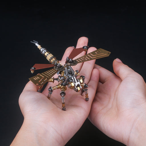 243Pcs Metal Insect Puzzle Model Kit 3D DIY Mechanical Assembly Jigsaw Crafts - Dragonfly - stirlingkit