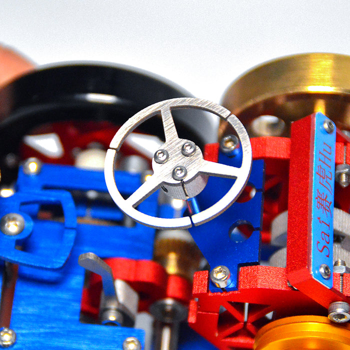 Vacuum Suction Fire Type Metal Stirling Engine Tractor Model - stirlingkit