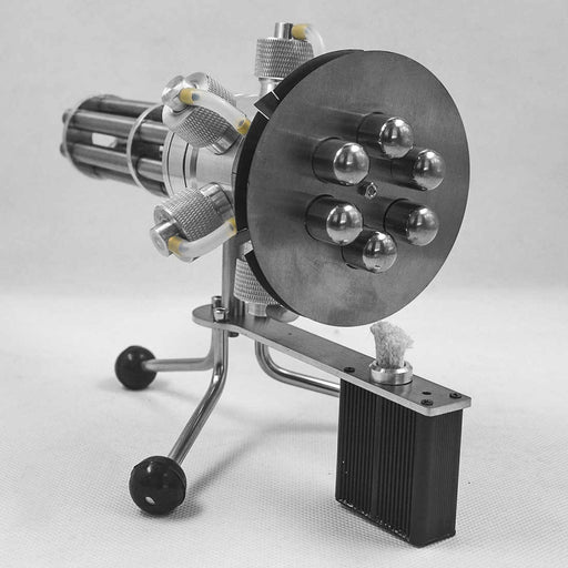 STEM Gatling 6 Cylinder Stirling Engine Model External Combustion Engine - stirlingkit