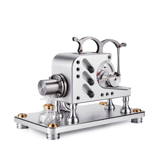 Metal Balance Stirling Engine Model Generator Micro External Combustion Engine Model - Bright Silver - stirlingkit