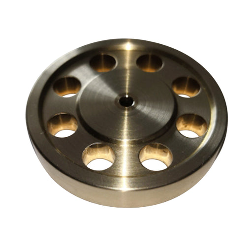 44mm Diameter 3mm Center Bore 8 Hole DIY Accessory Brass Flywheel for Stirling Engine Model - stirlingkit