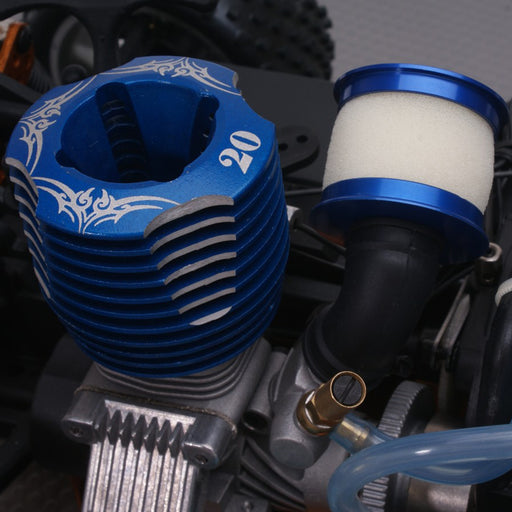Metal Head Air Cleaner Air Filter Compatible with Toyan Engine for 1:10 Oil Powered Model Car - Random Color - stirlingkit
