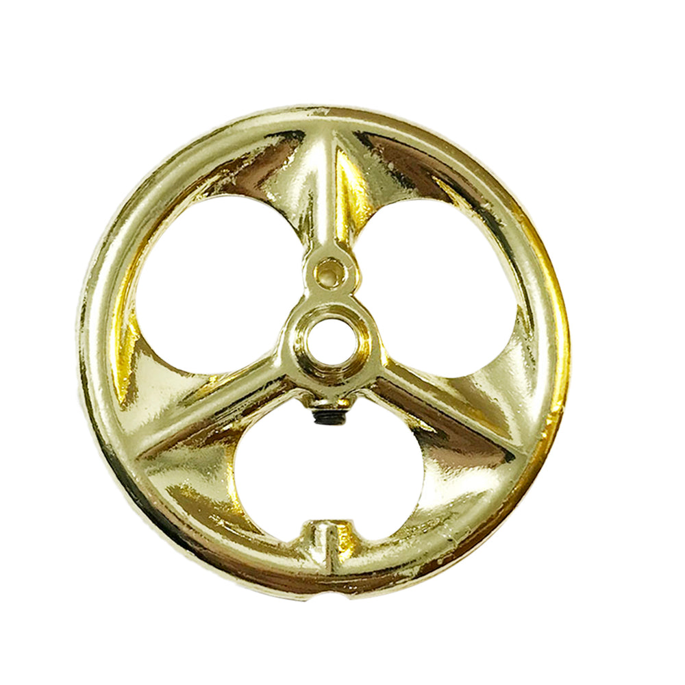 56mm Diameter 6mm Center Bore DIY Accessory Large Flywheel for Stirling Engine Model - Golden - stirlingkit
