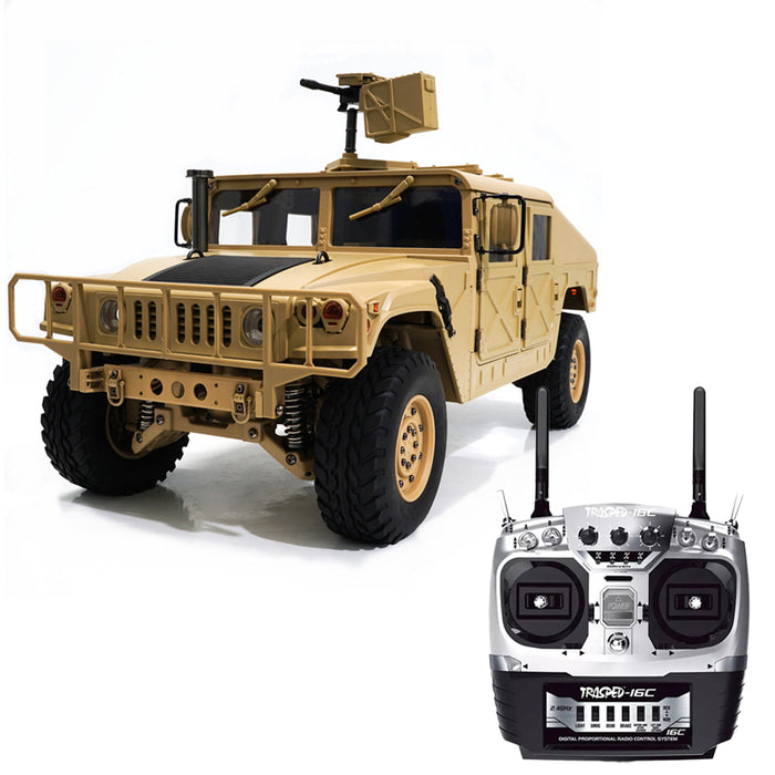 HG P408 1/10 2.4G 4WD 16CH 30km/h RC Model Car Light Sound Function U.S.4X4 Truck without Battery Charger - stirlingkit