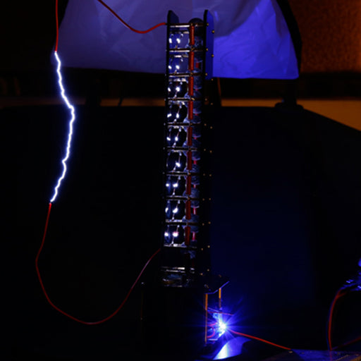 10 Level Marx Generator Cool Artificial Lightning High Voltage Arc Student Experiment DIY Device - stirlingkit
