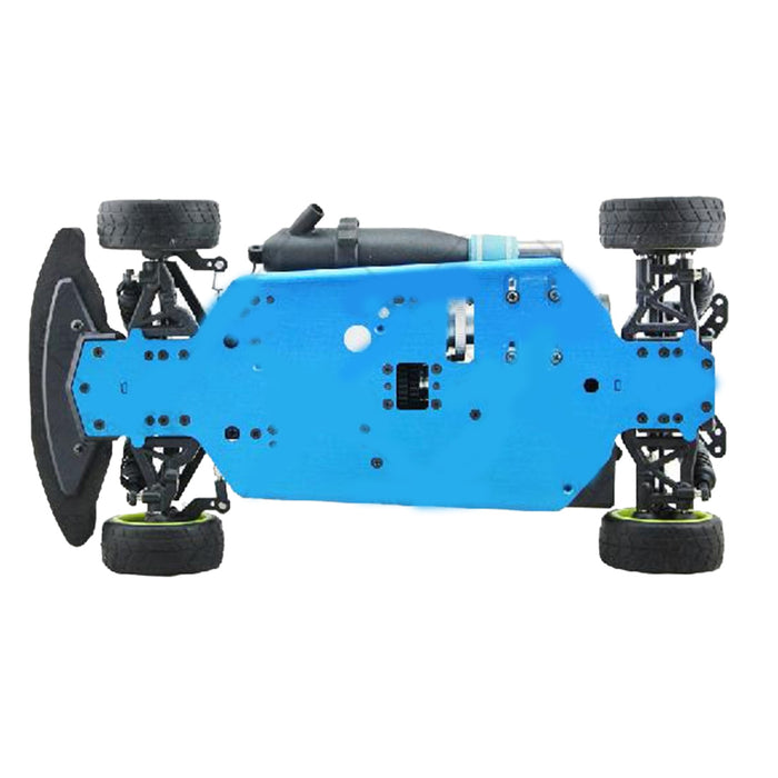 HSP 94122 1:10 Fuel Drift Car Chassis Frame Kit with GT2B Remote Control Compatible with Toyan VX Engine - stirlingkit