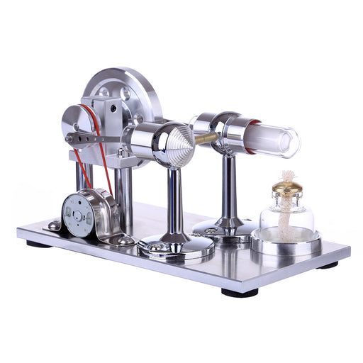 Hot Air Stirling Engine Motor Model Educational Toy Electricity Generator Colorful LED - stirlingkit