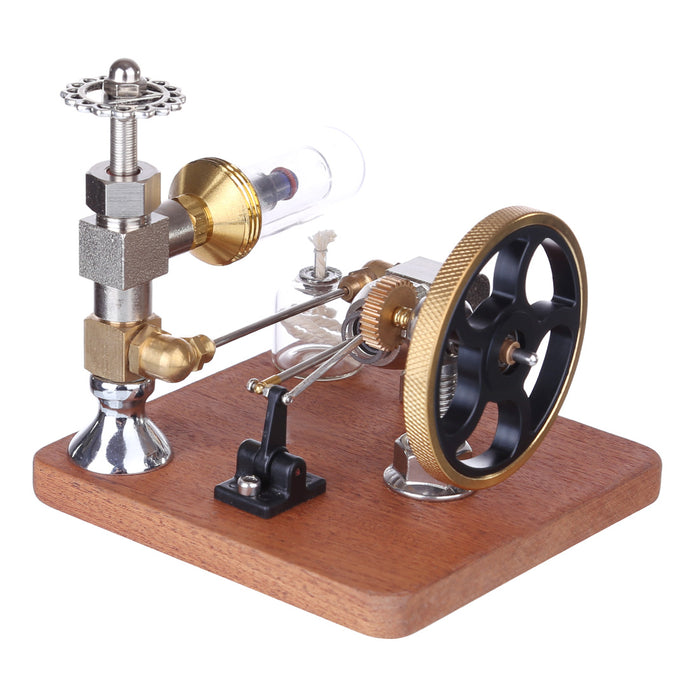 Adjustable Speed Stirling Engine Model Toy with Vertical Flywheel Science Experiment - stirlingkit