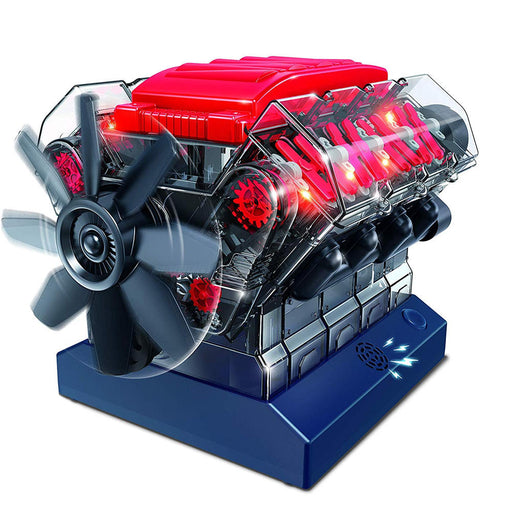 V8 Combustion Engine Model Building Kit STEM Toy Science Experiment - stirlingkit