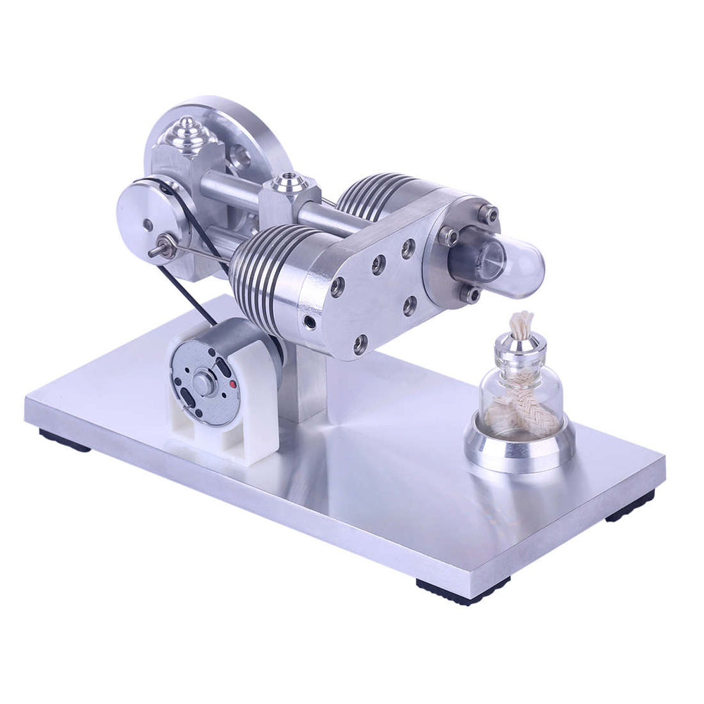 Stirling Engine Model Aluminium Alloy Quartz Heating Tube Stirling Educational Motor Kit - stirlingkit