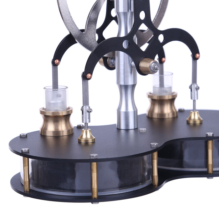 Peanut Shaped Double Cylinder Low Temperature Difference Stirling Engine Model Educational Engine Model - stirlingkit