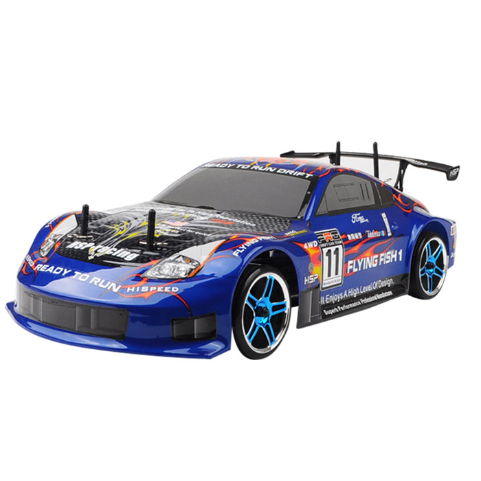HSP Racing Rc Car 4wd 1/10 Electric Power On Road High Speed Drift Car 94123 Flying Fish - stirlingkit