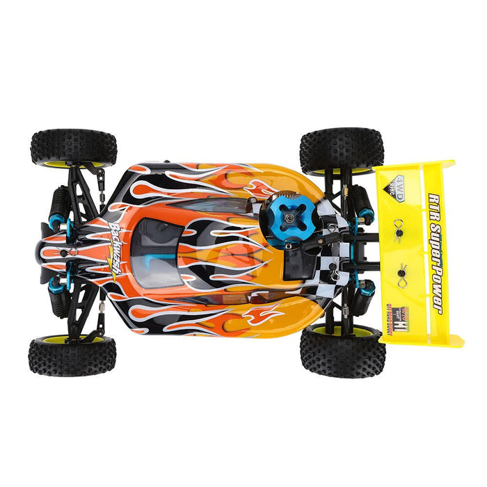 HSP Baja 94166 1/10 2.4G 4WD 400mm Rc Car Backwash Buggy Off-road Truck With 18cxp Engine RTR Toy - stirlingkit