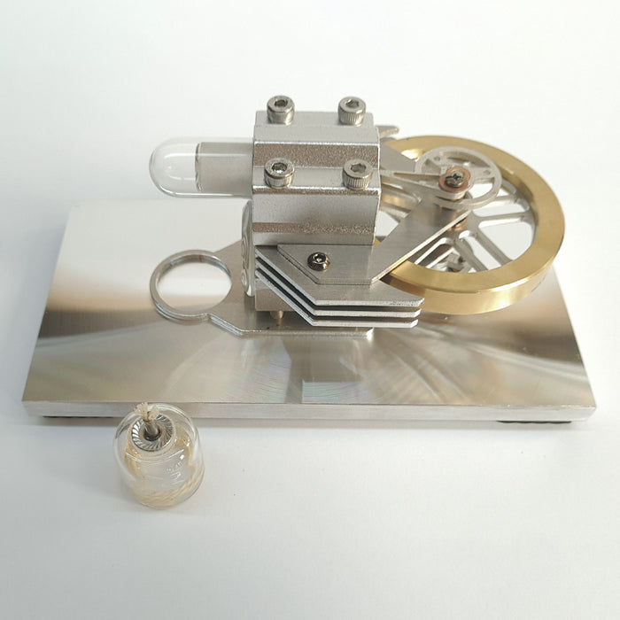 Hot Air Stirling Engine Motor Model Educational Toy Horizontal Stirling Engine Model - stirlingkit