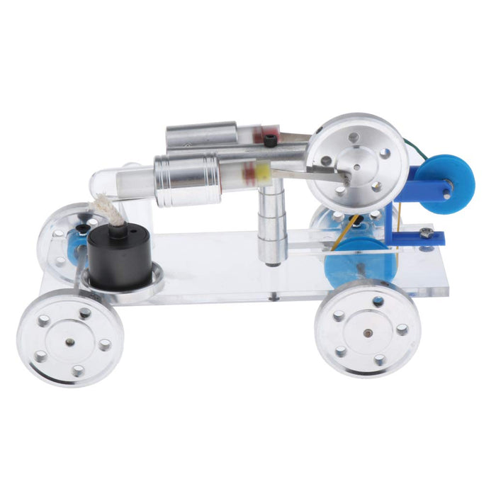 Hot Air Stirling Engine Stirling Motor Driving Car Science Toy - stirlingkit