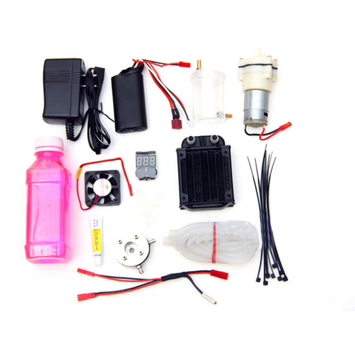 Level 18 Methanol Engine Gas Powered Model Car Water-cooled Cooling Accessories Kit (Only Water Cooling Accessories, No engine) - stirlingkit