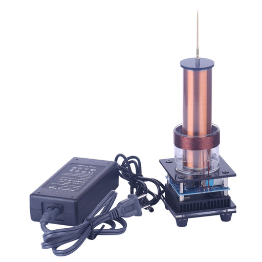Music Tesla Coil Acrylic Base Shell Arc Plasma Loudspeaker Wireless Transmission Experiment Desktop Toy Model - stirlingkit