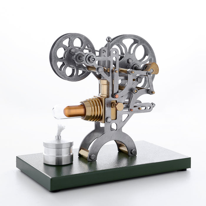 Retro Stirling Engine Motor External Combustion Engine Science Educational Model Decoration with Metal Base