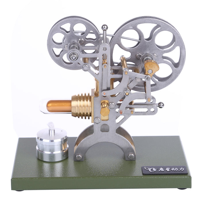 Retro Stirling Engine Motor External Combustion Engine Science Educational Model Decoration with Metal Base - stirlingkit