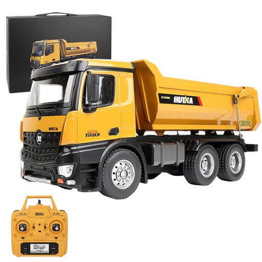 1/14 2.4G 10CH RC Alloy  Engineering DumpTruck Transportation Vehicle Model with Lighting Sound Effect - stirlingkit