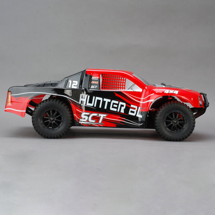 DHK 8331 Hunter BL SCT 1/10 4WD 55kph 50A Brushless Short Course Truck RC Car -Red - stirlingkit