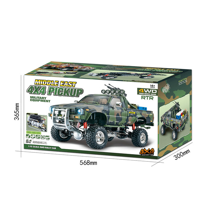 HG-P417 1/10 2.4G Simulation Middle East Pickup Truck RC RTR 4X4 4WD Rally Car - stirlingkit