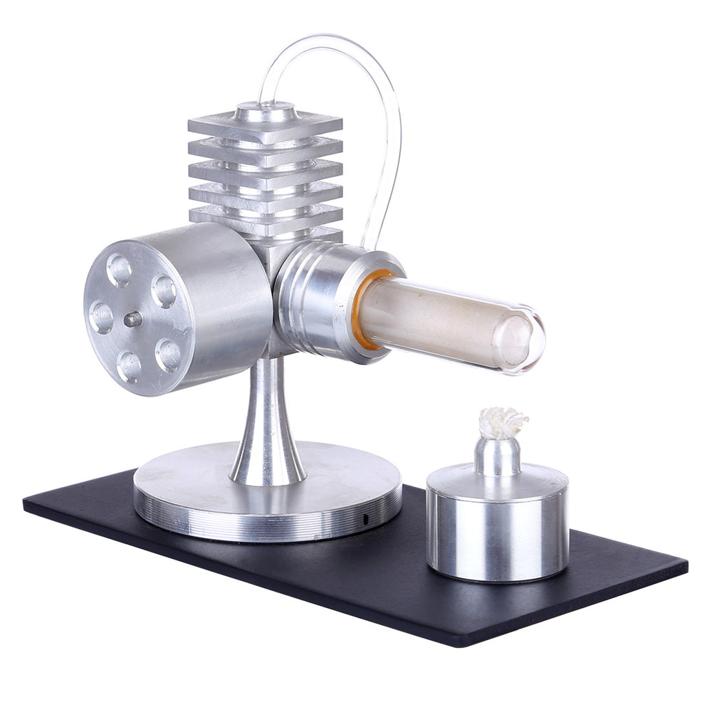 Single Cylinder Stirling Engine Model External Combustion Heat Steam Power Physics Science Experiment Engine Model - stirlingkit