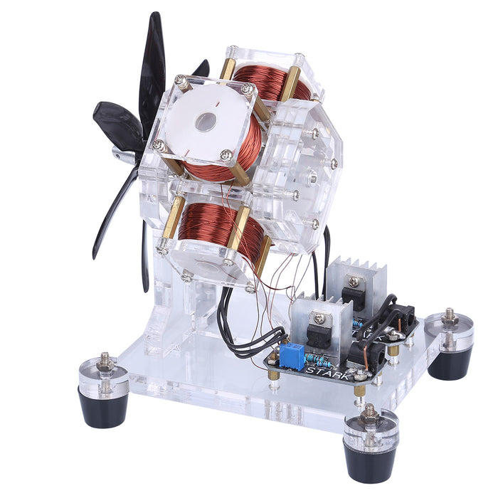 Stark Hall Sensor Brushless Motor Electric Machine Fan Blade High Speed DIY Physical Model Science Toy - stirlingkit