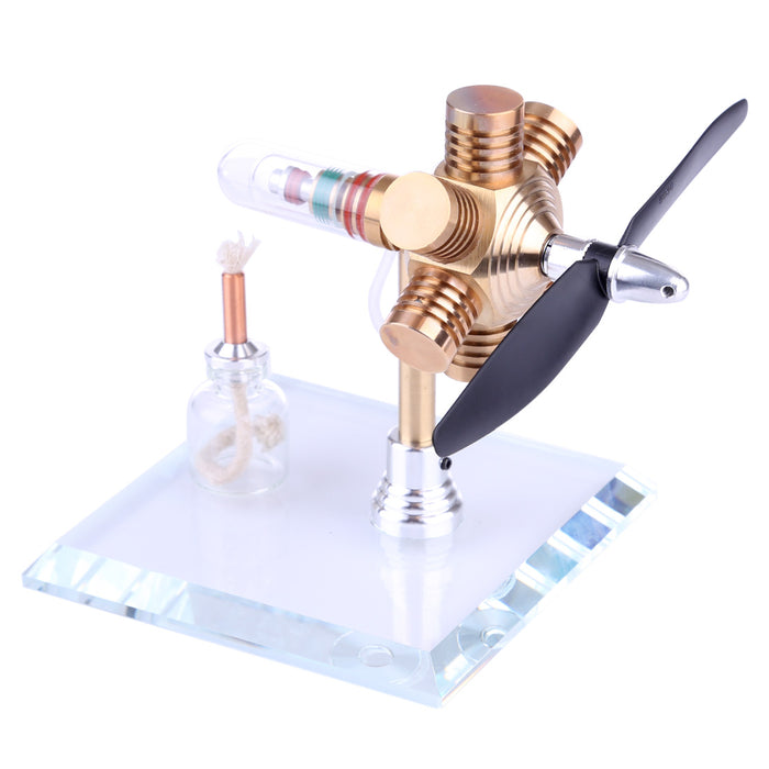 Stirling Engine Kit Propeller Rotating Motor Model Steam Heat Generator Physical Model Toy Collection Creative Educational Toy - stirlingkit