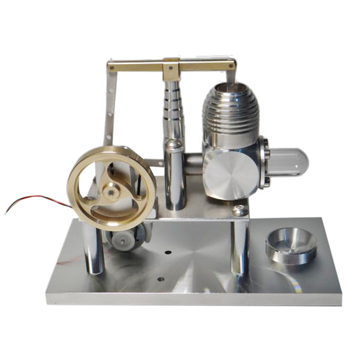 Stirling Engine Model Balance Type Stirling High Performance Generator with Lamp Beads - stirlingkit