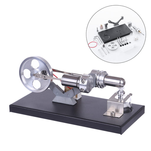 Hot Air Stirling Engine Model DIY Assembly Kit Generator with 4 LED Light - stirlingkit