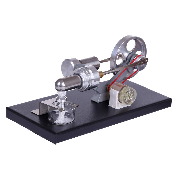 Stirling Engine Model Kit Generator Heat Engine DIY Assembly Model Set Hot Air Stirling Motor Model with 4 LED Light - stirlingkit