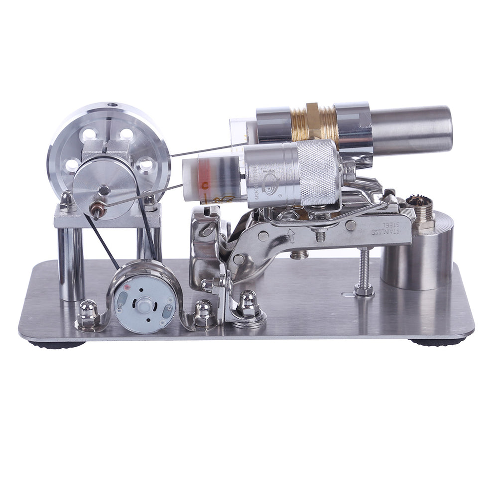 Stirling Engine Model Metal Single Cylinder Power Generator Micro External Combustion Engine Stem Model - stirlingkit