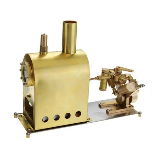 M2C Mini Steam Boiler with Twin Cylinder Marine Steam Engine Stirling Engine Model - stirlingkit