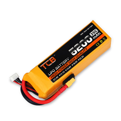 TLB 7.4V 5200mAh 35C 2S T-plug Battery for RC Boat and Car Methanol Engine Model Gasoline Engine - stirlingkit