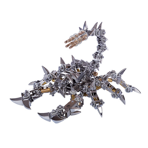 Metal DIY Assembly Model Kit 3D Stainless Steel War Scorpion Mechanical Model - stirlingkit