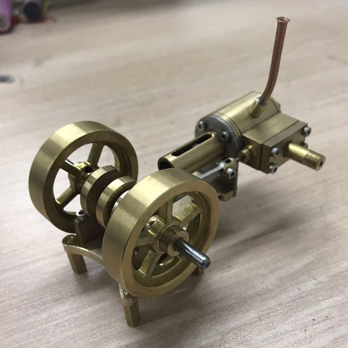 Tractor Head Shape Double Flywheel Steam Engine Model Without Boiler - stirlingkit