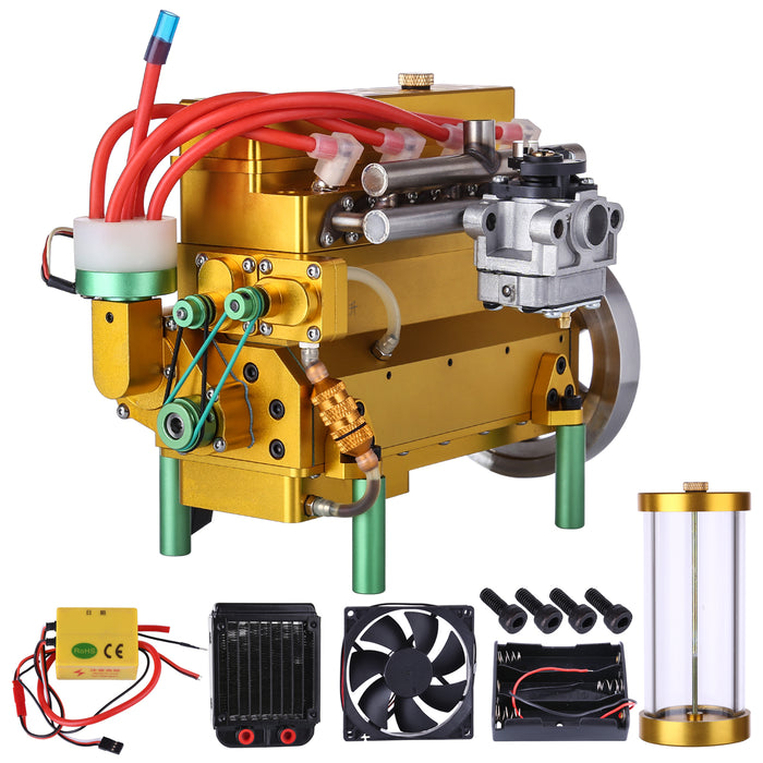 32cc Four-cylinder In-line Water-cooled Gasoline Engine for RC Car Ship - stirlingkit
