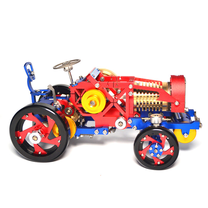 Vacuum Fire Stirling Tractor Engine Aluminum Alloy Model Toy for Christmas Gift - stirlingkit