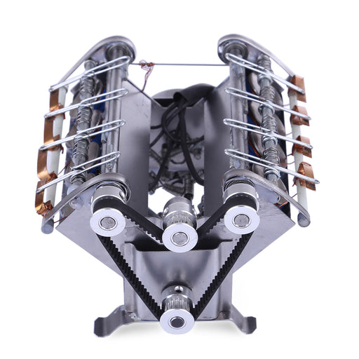 V8 High Speed Engine Model Electromagnetic 8-cylinder Car Engine Working Principle Stem Toy - stirlingkit