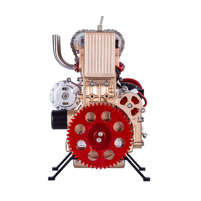 Teching V4 Four-Cylinder Stirling Engine Aluminum Alloy Model Collection