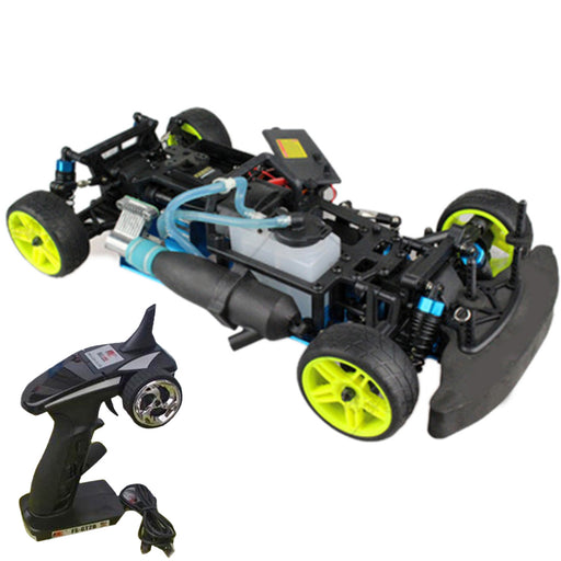 1:10 Sports Car Fuel Drift Car Chassis Frame Kit with Engine Component and Remote Control Compatible with Toyan FS Series Engine - stirlingkit