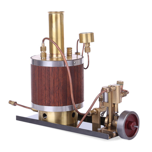 Mini Steam Engine Model with Boiler and Base Set - stirlingkit