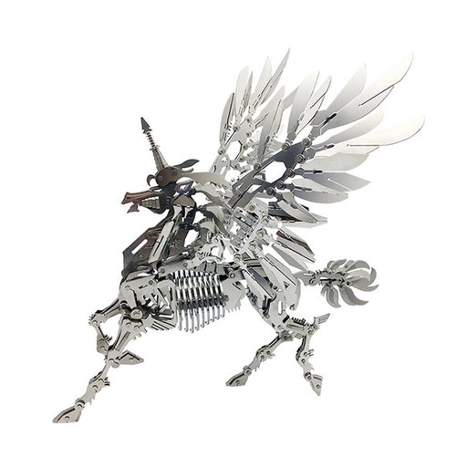 DIY Stainless Steel Metal Puzzle Model Kit 3D Assembly Crafts - Large Unicorn - stirlingkit