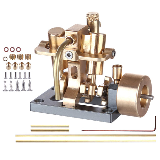 Mini Inline Double-cylinder Swing Steam Engine Model (without Boiler) - stirlingkit