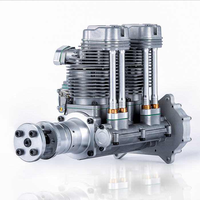 ngh GF60i2 60cc Inline Four Stroke Double Cylinder Air Cooled Gasoline Engine for Fixed Wing Drone - stirlingkit